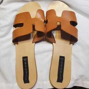 Steve Madden Leather Slides